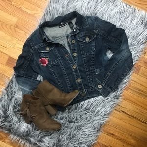 DKNY Jeans Denim Jacket with Embroidery